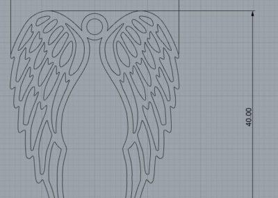projekt skrzydła